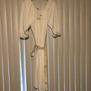 NWT White Midi off shoulder ASOS dress 24